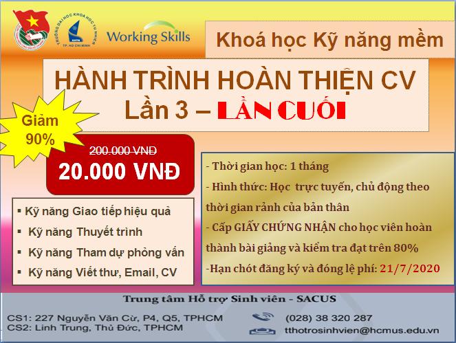 """""""HÀNH TRÌNH HOÀN THIỆN CV"""" LẦN 3- LẦN CUỐI"""