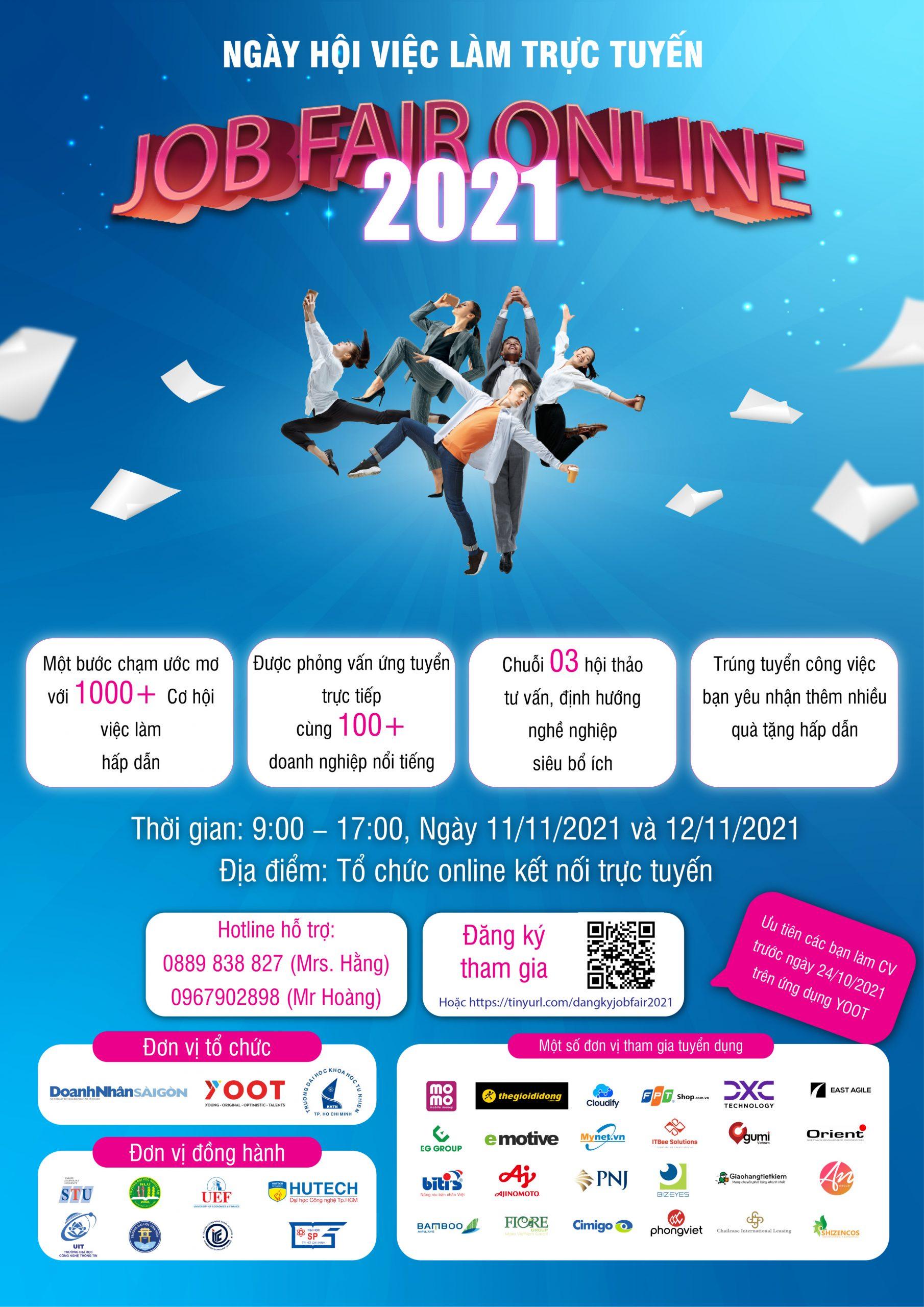 NGÀY HỘI SINH VIÊN VÀ DOANH NGHIỆP 2021 – JOB FAIR ONLINE 2021